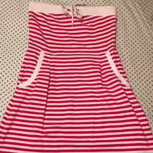 Lilly Pulitzer strapless pink and white striped